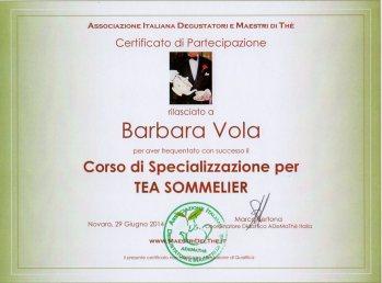 Corso Specializzazione Tea Sommelier