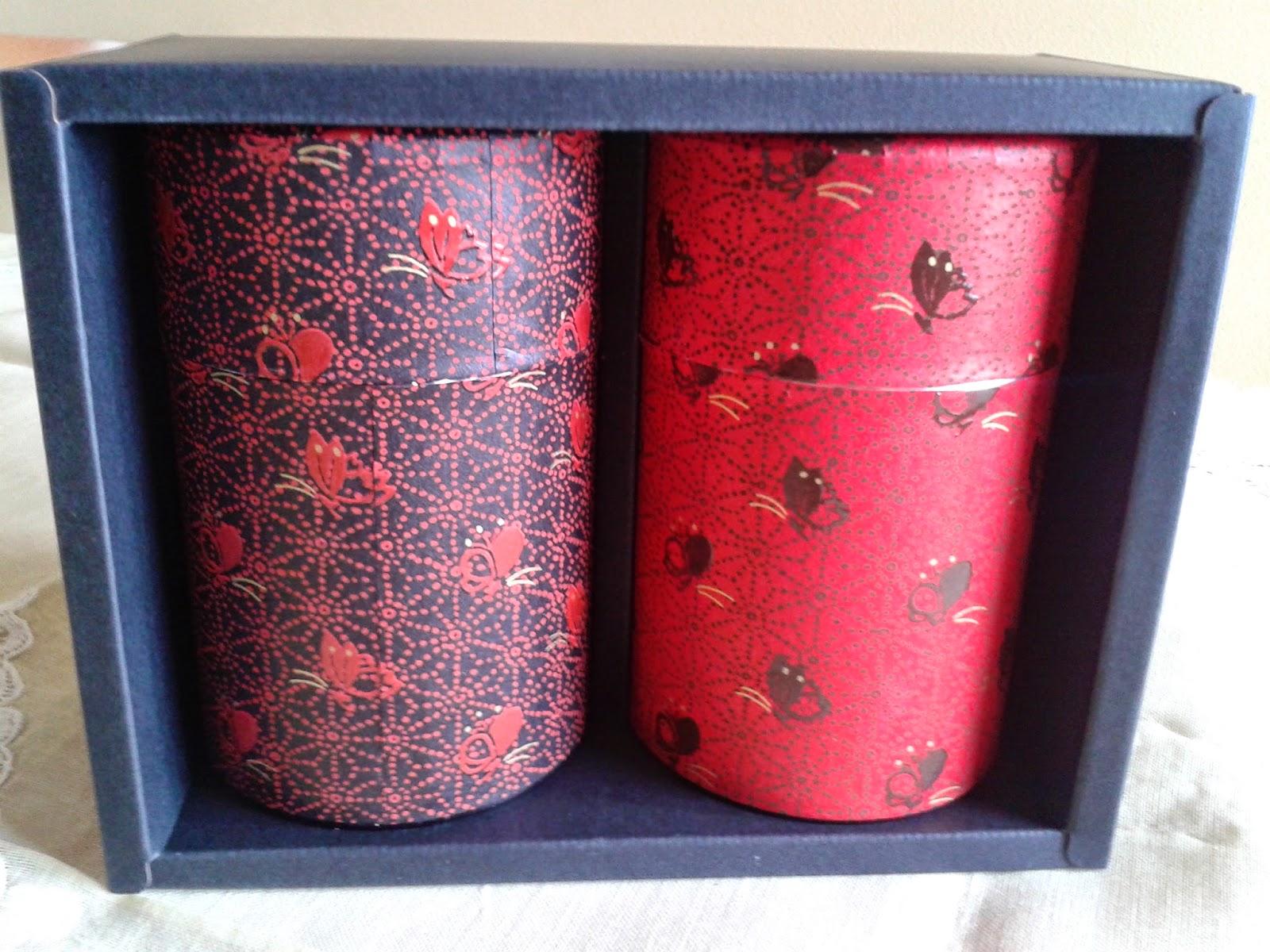 lattine porta tè riveste di carta giapponese