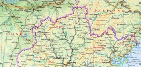 zona Nord del Fujian. Cliccando si ingrandisce