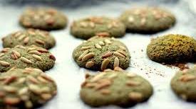 biscotti tè Matcha e pinoli