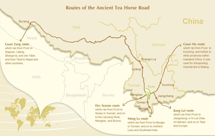 le strade della via dei cavalli e del tè