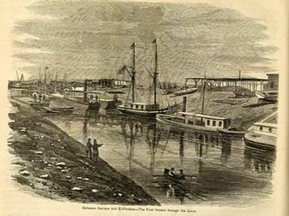 Canale di Suez - La prima nave attraversa il canale 17 febbraio 1867