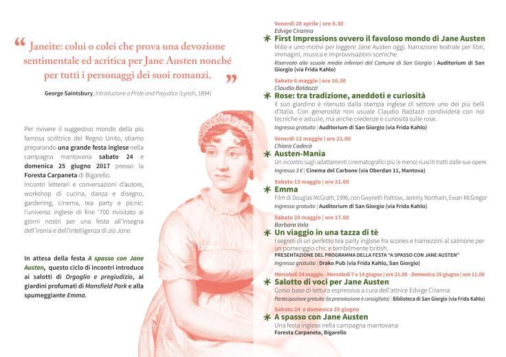 Jane Austen 20 mag 2017 flyer programma
