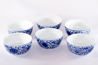 Blue and White JingDeZhen Flower Pattern Tea Cup