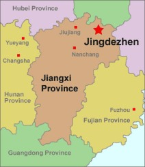 jingdezhen-location-map