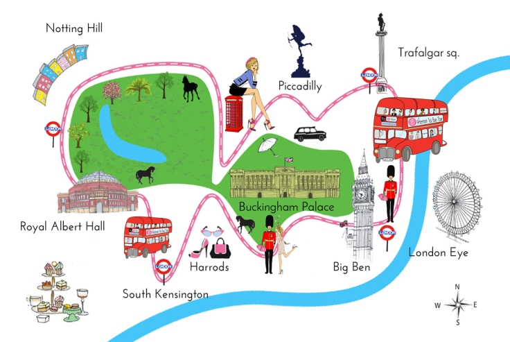 Bus Afternoon Tea Tour- map