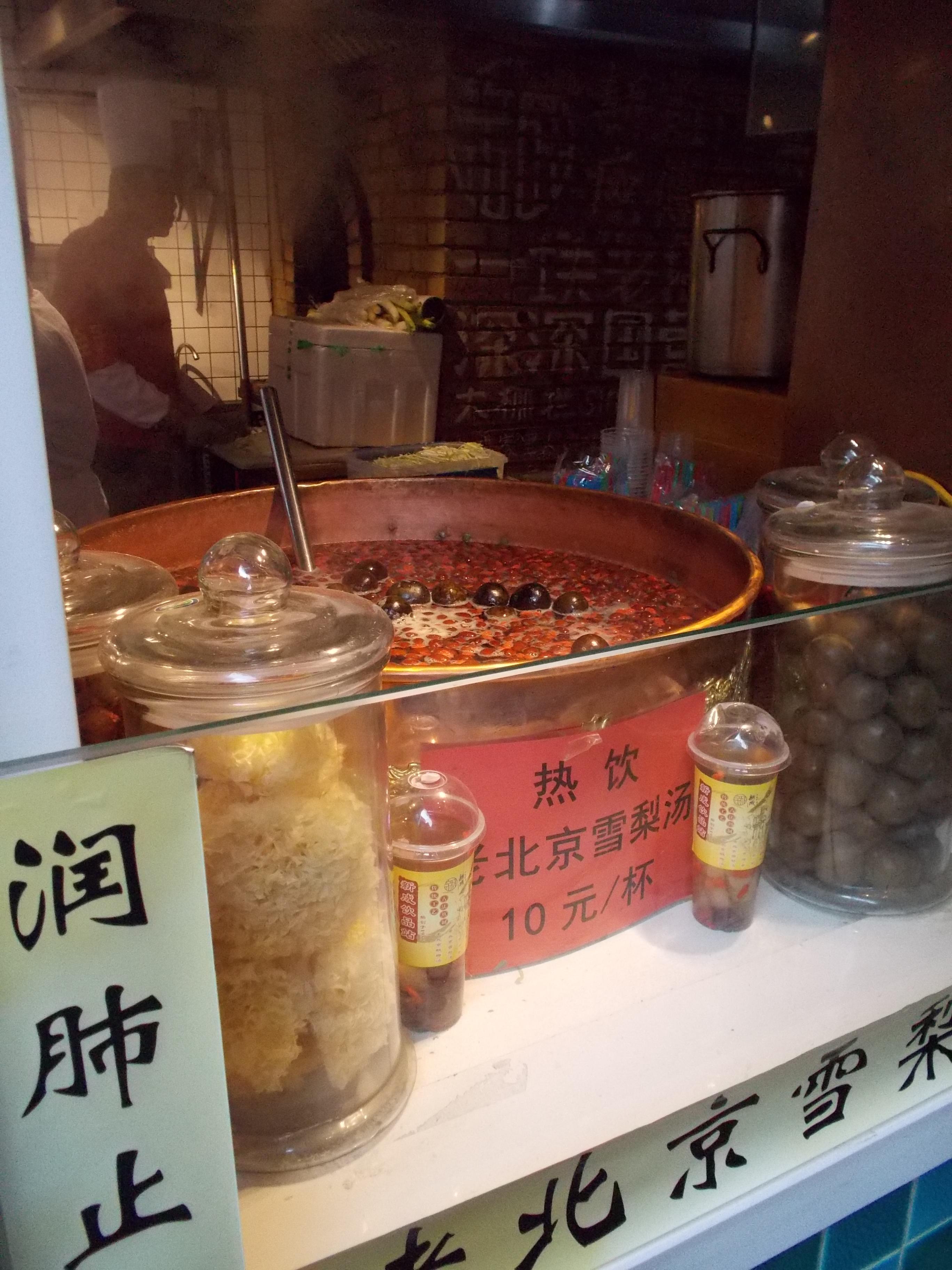 Tisana invernale cinese a Pechino