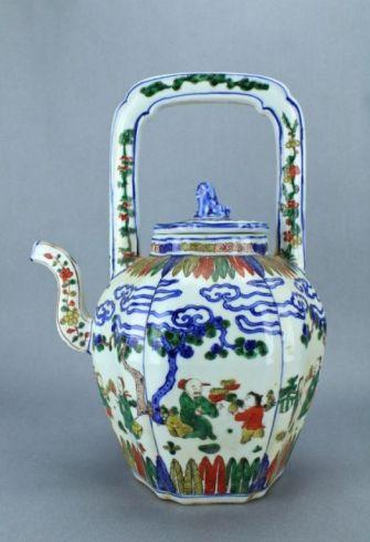 Antique Ming Porcelain Teapot