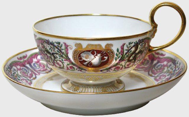 francia tasse à thé du service royal de fontainebleau