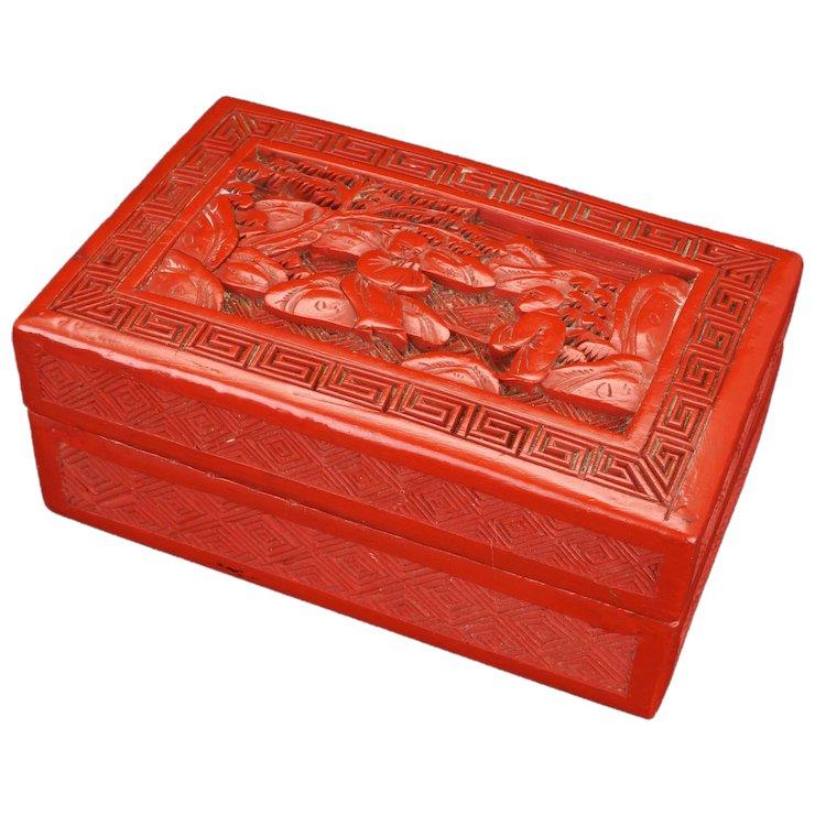 lacca cinese scatola legno