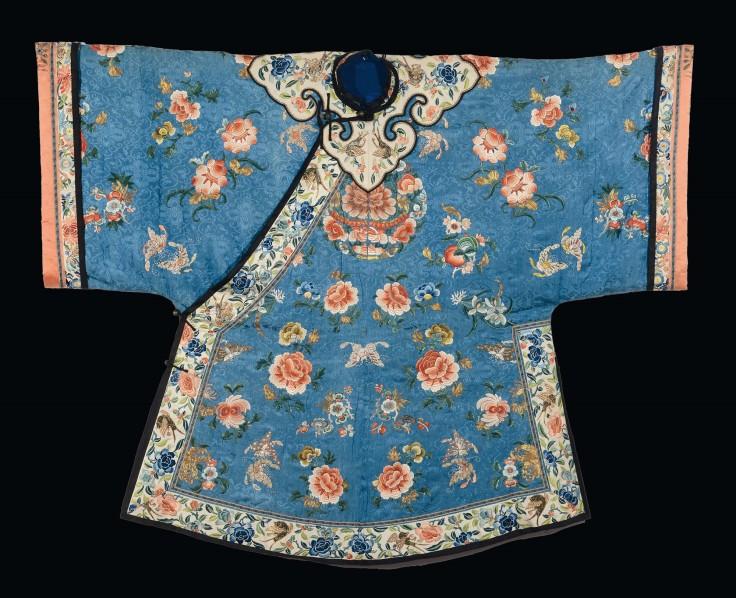 veste ricamata in seta, cina, dinastia qing, xix secolo