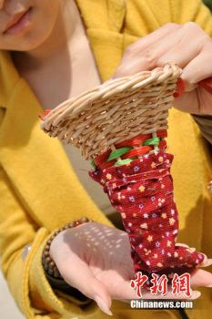 Tè raccolto con le labbra china-henan cestino e sacchetto stoffa
