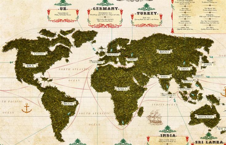 Mappa del tè