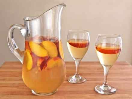 tè alla pesca bicchieri