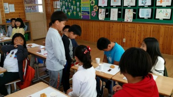 Corea Park - bambini in classe