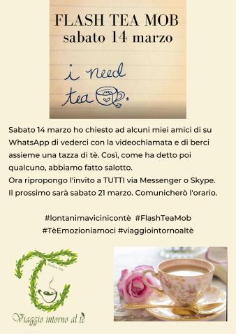 Evento Flash Tea Mob 21 marzo