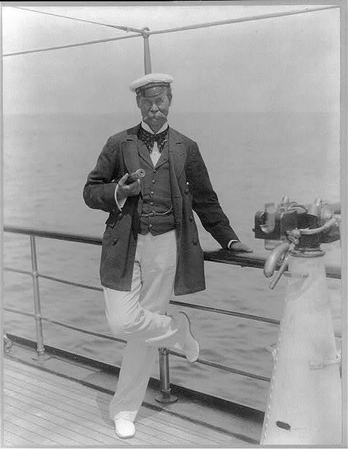 Thomas Lipton sul suo Yacht Erin