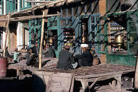 Afghanistan tè all'aperto