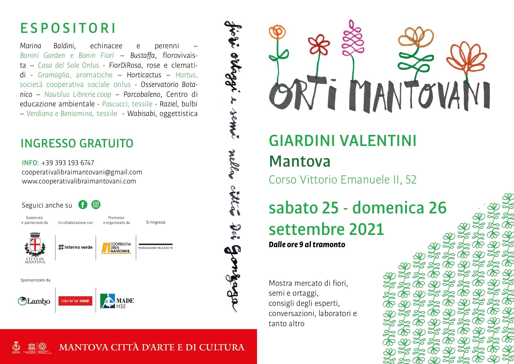 Programma Orti Mantovani 2021