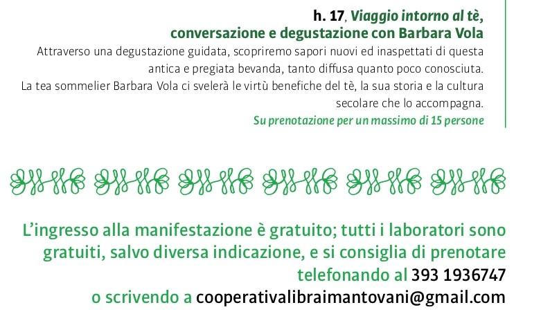 Viaggio intorno al tè - Orti Mantovani 2021